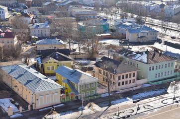 Виды города Вологда ранней весной