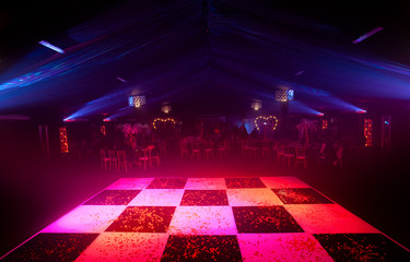 Glowing Chequered Dancefloor