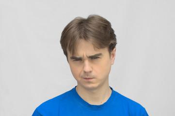 Man look gloomy