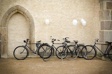 Vintage Fahrräder als Brautkutsche
