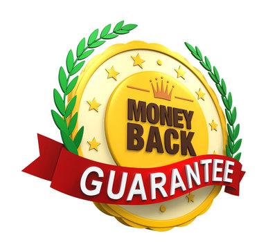 Money Back Guaranteed Label