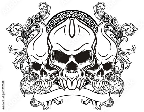 """triple skull"" Stock image and royalty-free vector files ..."