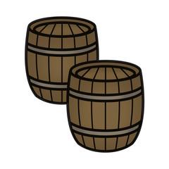 2 Wood Gunpowder Wine Beer Barrels
