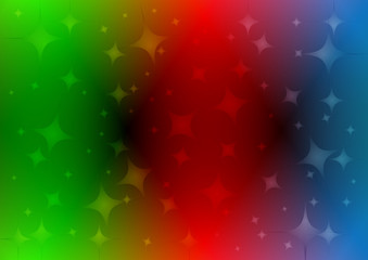 Rainbow background with stars .