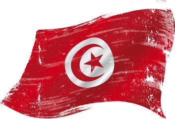 Tunisian grunge flag