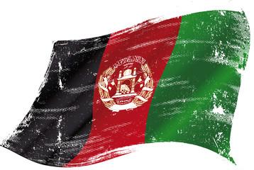 Afghan grunge flag