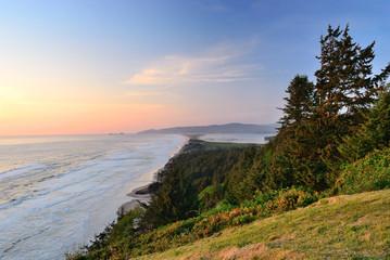 The Pacific coast. USA. Oregon. Cape Lookout State park