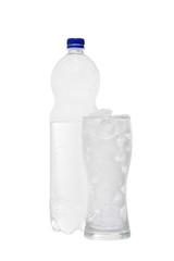 Bottle of soda isolated on a white background