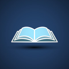 Vector Illustration of an open book.