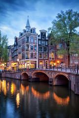 Canvas Prints Amsterdam Evening in Amsterdam