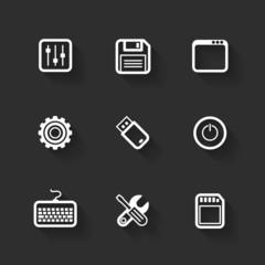 Vector design flat icons