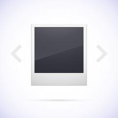 Retro photo frame isolated on white background