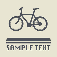 Bicycle icon or sign, vector illustration