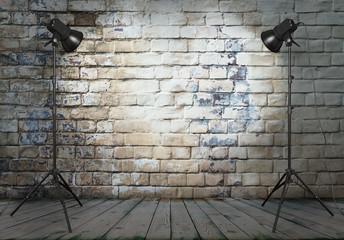 photo studio in old room