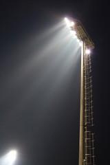 Spotlight of football stadium