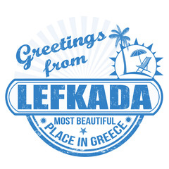 Greetings from Lefkada stamp