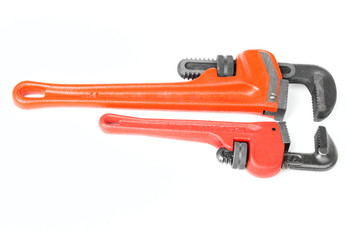Pair of red monkey wrenches