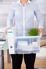 Businessperson Carrying Office Supply