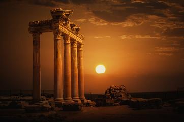 Poster de jardin Ruine Apollon Temple@Antalya
