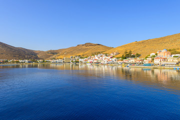 Fototapete - Greece Kea Island in Cyclades panoramic seascape view of sea at