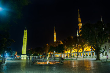 Sultanahmet Meydani by night