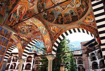 Monastery of St John Rilski, Rila Mountain, Bulgaria Wall mural