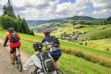 Fototapete - Mountainbike-Tour in der Feldberg-Region