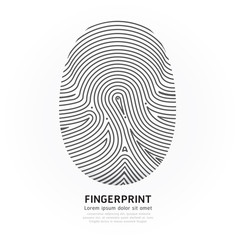 Fingerprint color vector illustration.