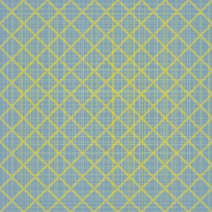 Abstract blue seamless pattern with yellow mosaic. Vector