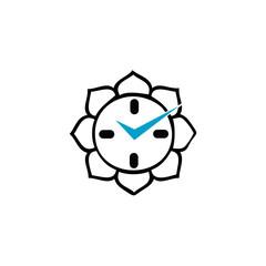 Clock with Buddhist lotus