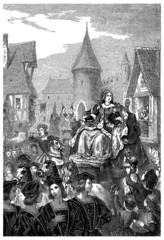Queen Anne de Bretagne : entering Lyon - 15th century