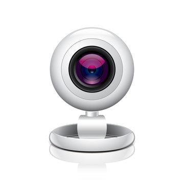White webcam vector illustration