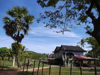 Khmer rural house, Kampot, Cambodia