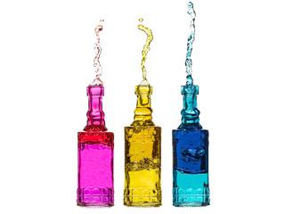 Splashing Bottles