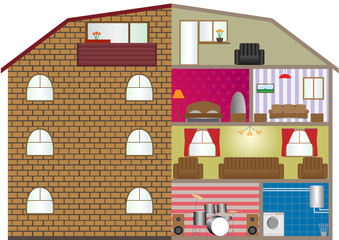 Vector illustration of a house interior. EPS-10.