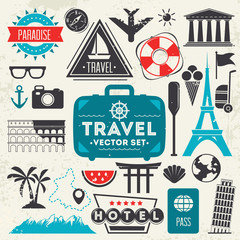 Travel icons.Vector