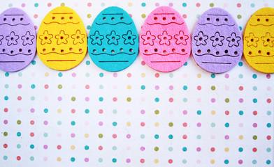 Easter eggs banner
