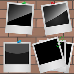 Set of photo frames.  Vector illustration EPS-10.