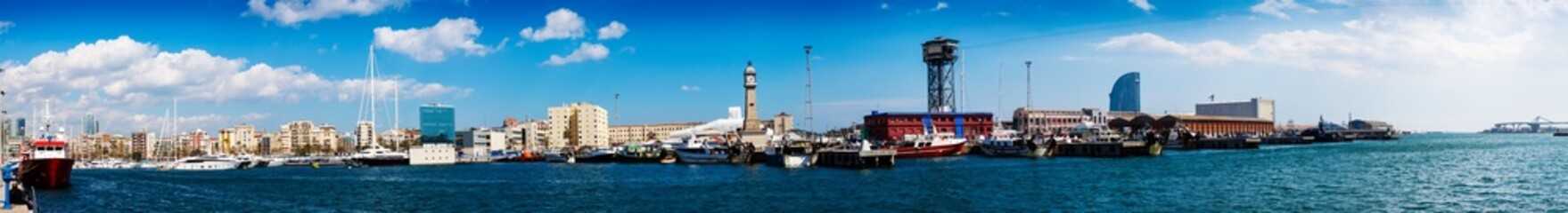 panoramic view of Port Vell