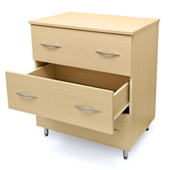 Fototapeta chest of drawers isolated on white background obraz