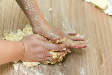Kneading Dough on the Kitchen Table