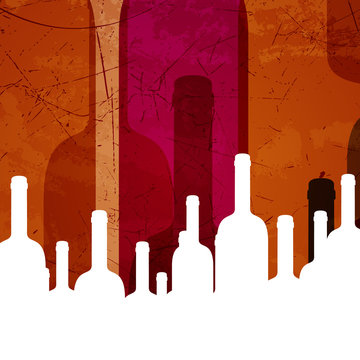 Vector Illustration of an Abstract Wine Background