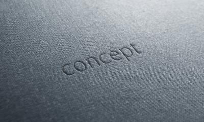 jeans text concept