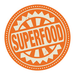 Abstract stamp or label with the text Superfood written inside