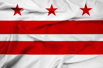 Waving Washington DC Flag