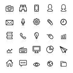 Business outline icons set 1. Vector illustration.