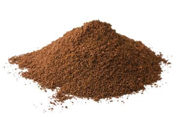 Pile of fresh ground coffee powder