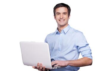 Handsome computer guy.