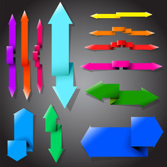 Collection of the vector arrows