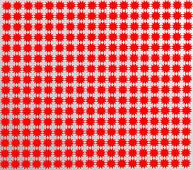 pattern from red shapes like laces